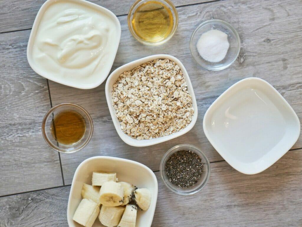 banana overnight oats ingredients