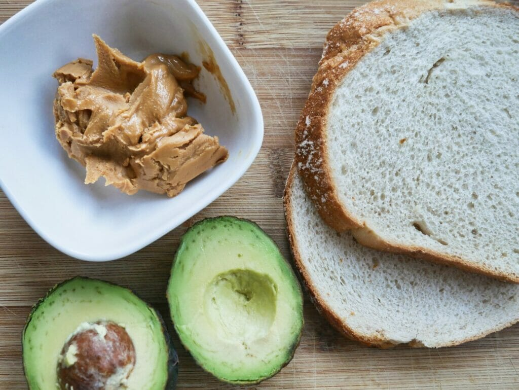 bread peanut butter and avocado