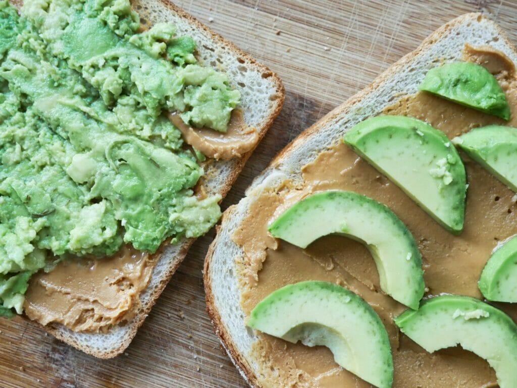 peanut butter and avocado toast