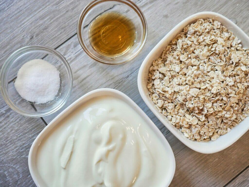 vanilla overnight oats ingredients