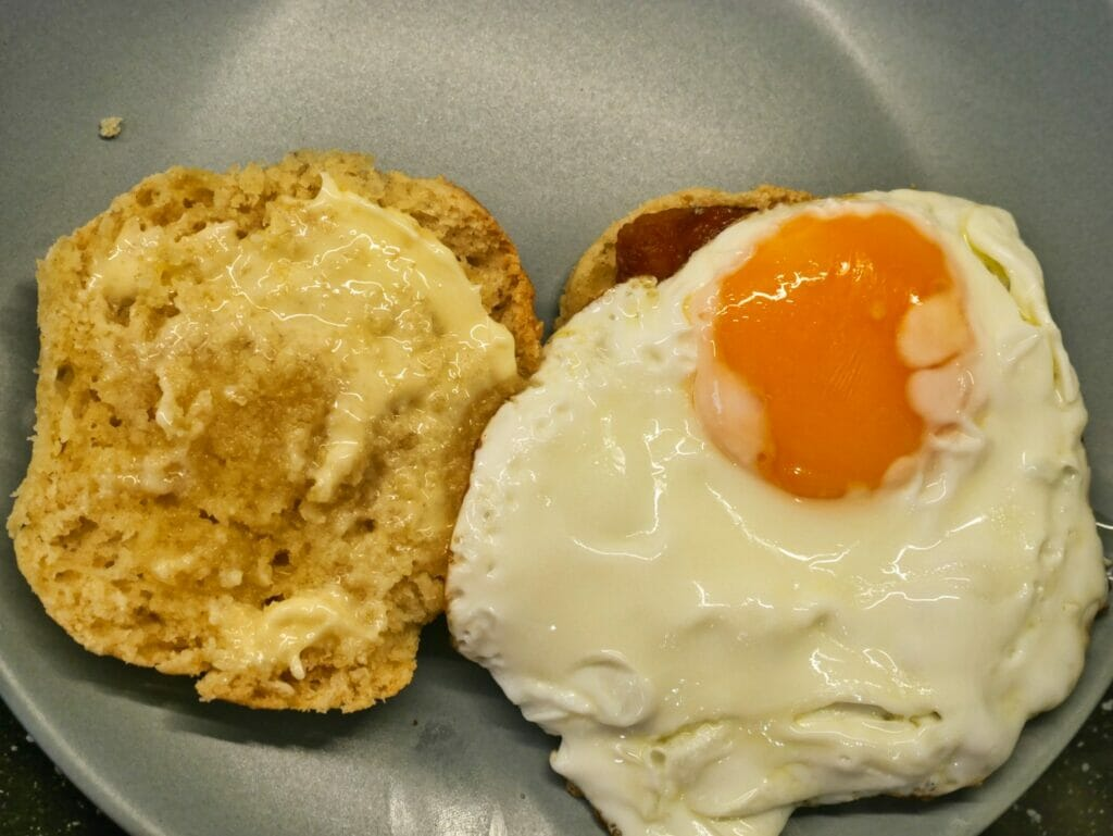 egg on biscuit